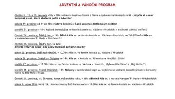 Adventní a vánoční program